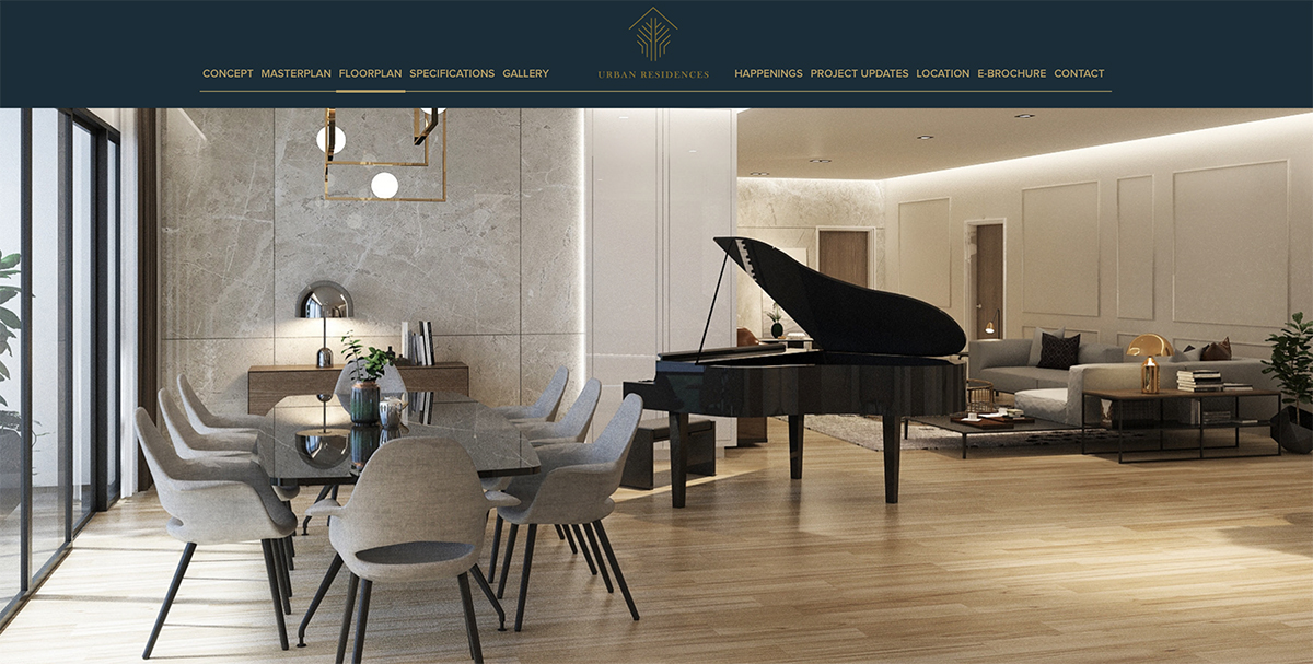 Property Developer Website Design for Urban Residences