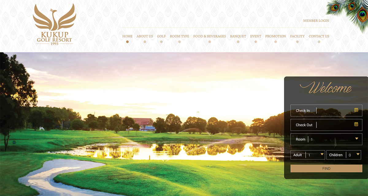 Kukup Golf Resorts Web Design
