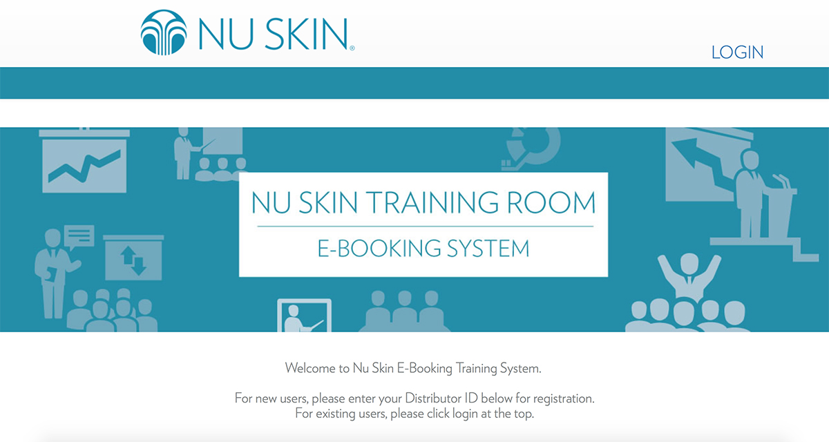 Nu Skin Room Booking System