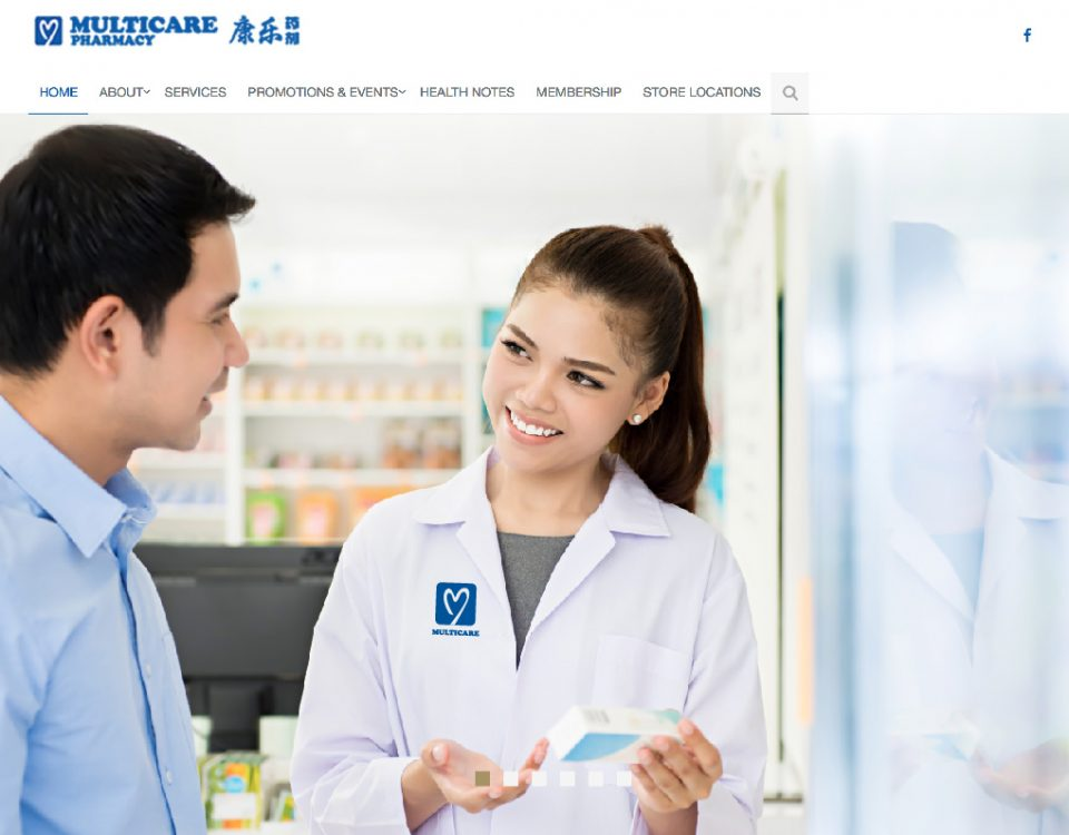 Multicare Pharmacy Website Design