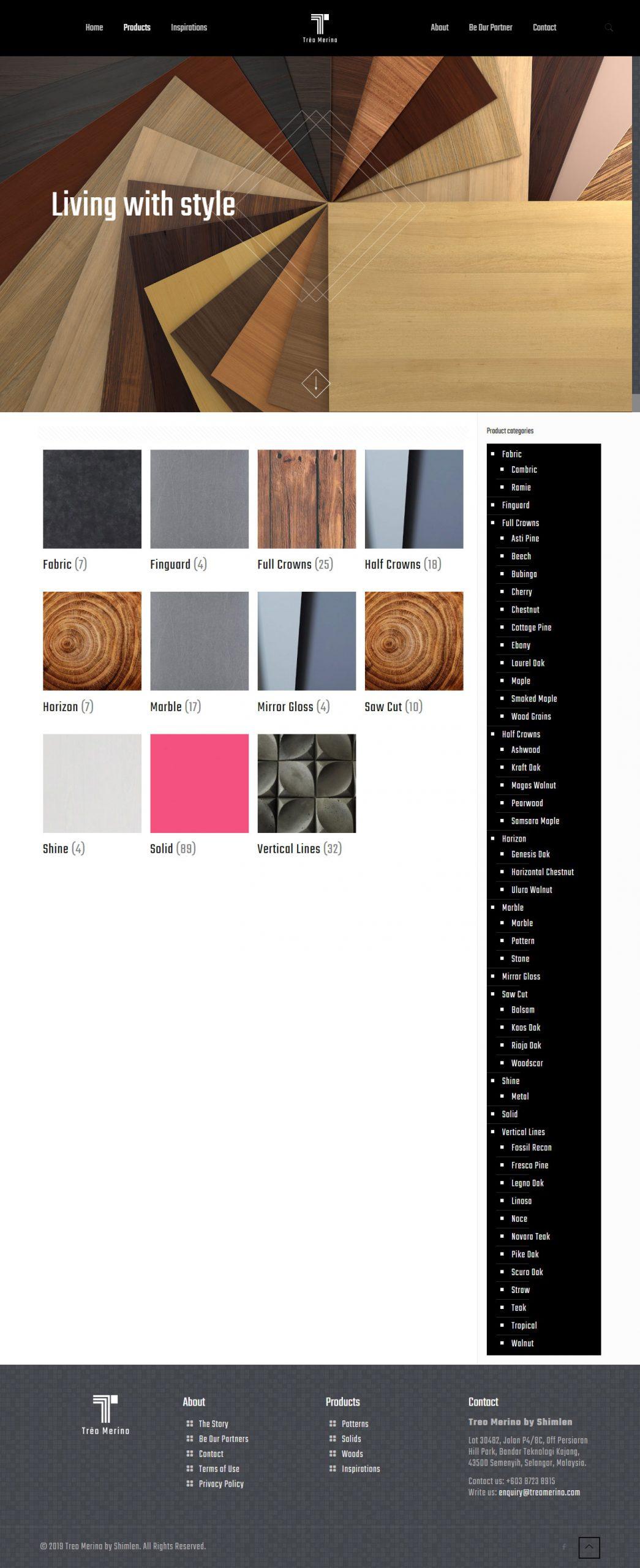 Website Design   Treo Merino